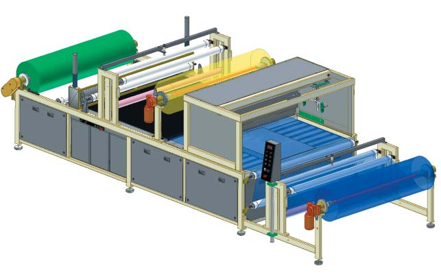 AutoCAD Inventor based drawing of the Solvent spray laminator