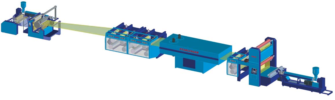 UD extrusion line